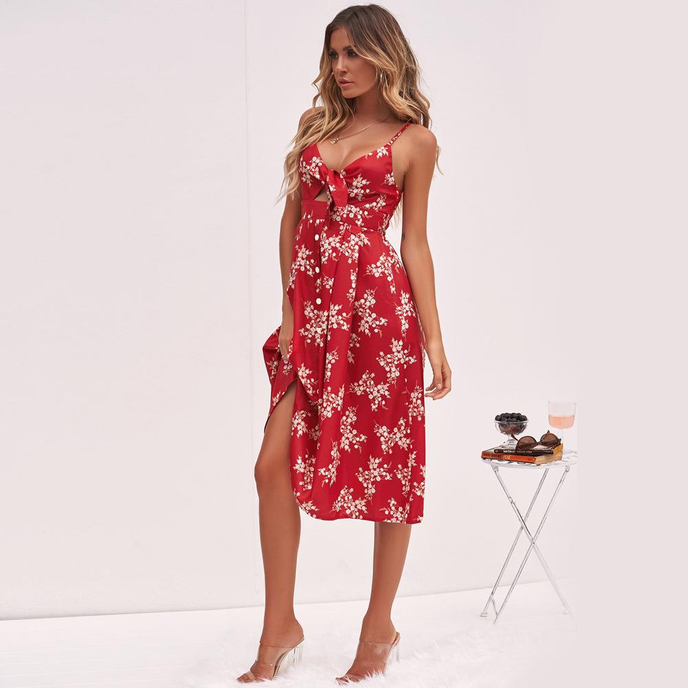 c31496c22433539 2019 Летние Платья с цветочным узором для женщин летние платья для молодых  женщин вечерние платья женские