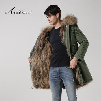 Natural Fur Color Real Fox Fur Man Winter Parka Mr Furs Coat ...