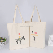 Manufacturer Promotional Customized Printing Plain Cotton Canvas Bag for Shopping