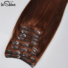 Private Label Wholesale Full Head 220G Clip In Super Quality Popular Russian Mongolian Hair Extension