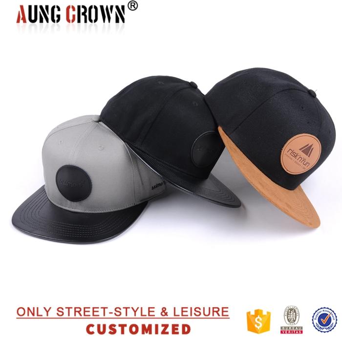 Fashion Caps Plain Custom Leather Patch Logo Snapback Hats Wholesale ... 2e33d71ce0f