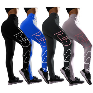 High Waist Butt Lift Yoga Pants Activewear Digital Printing Workout Pants for Women