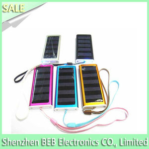 Portable 500mah solar powered iphone charger for travelling and hiking