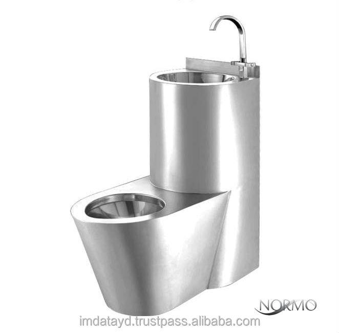 Entwässerung Von Waschbecken Und Wc: Edelstahl Gefängnis Wc AISI 304 Qualität Kombination Wc
