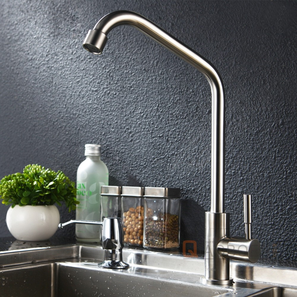 High quality factory price nickel brushed deck mounted single handle stainless steel kitchen faucets