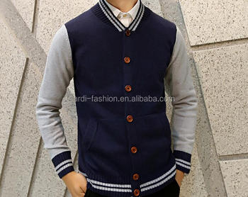 Whoelsale Junior Youth College Young Men Cardigan Sweater With