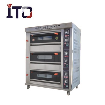 BHM-6QH Commercial Gas Stove Oven with Stone