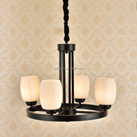 Family decoration indoor pendant lamp white shade low round chandelier sconces for house