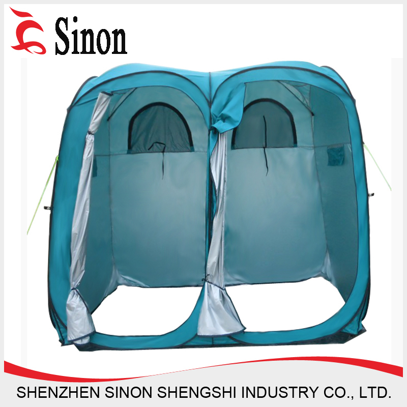 Double douche tente de camping camping en plein air tente de douche wc tente id de produit for Douche plein air