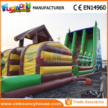 Giant inflatable slip n slide zip line equipment zip line kit