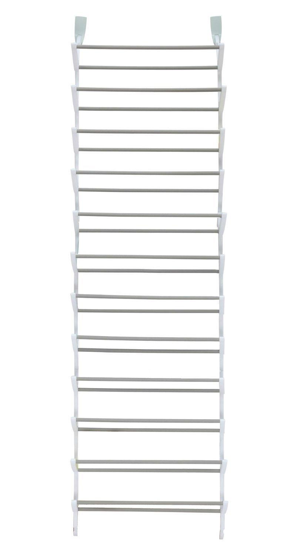 StorageManiac Over The Door Shoe Rack, 36 Pair, Sturdy Hanging Shoe  Organizer, White