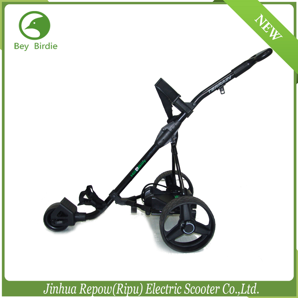 CE certificated Golf Trolley 12V 150W lithium battery electric golf trolley