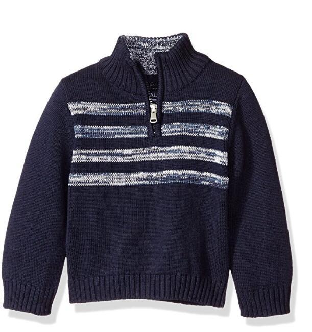 Suéter del bebé del diseño de bordado a mano de punto zip trimestre ...