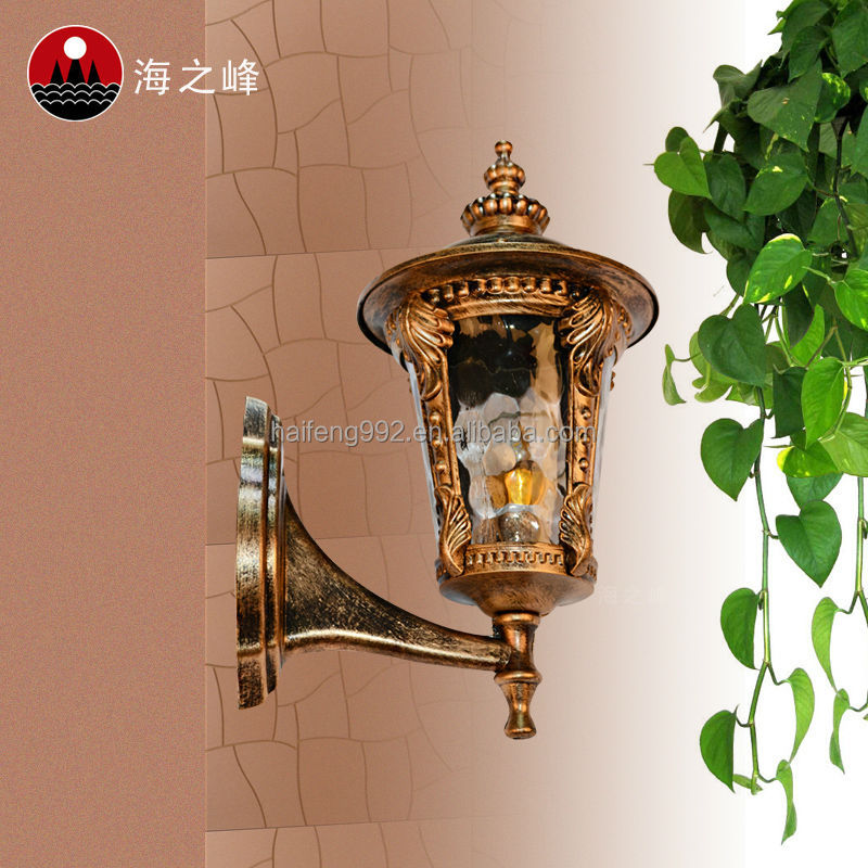 Glass Diffuser Garden Lamp / Aluminum Wall Mounted Light
