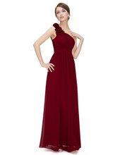 Ever Pretty Бордовые Платья для подружки невесты, длинная шифоновая аппликация, Дешевые длиной до пола, свадебное платье подружки невесты, бальн...(Китай)