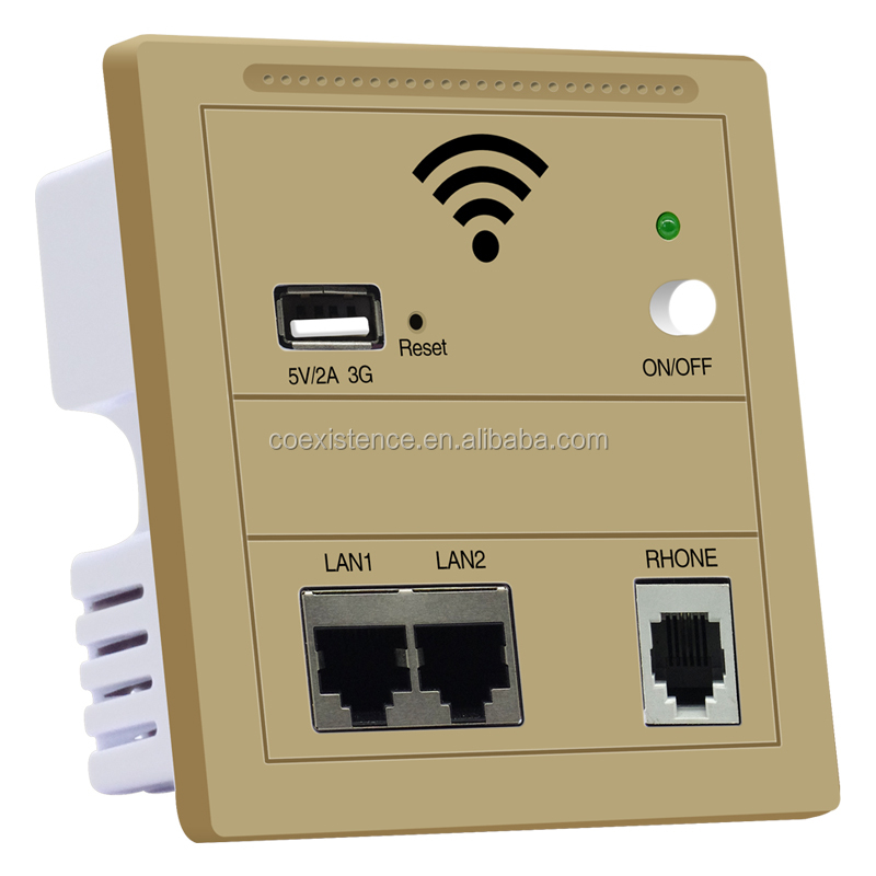 Inwall Ceiling Router Ap Product, Wall Mounted Plug, wifi ap poe router wall plate router