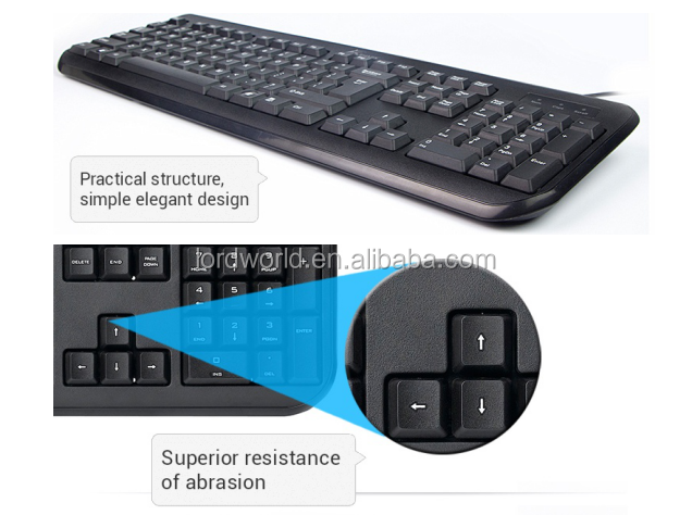 best price china OEM factory membrane waterproof wired keyboard for hp 520