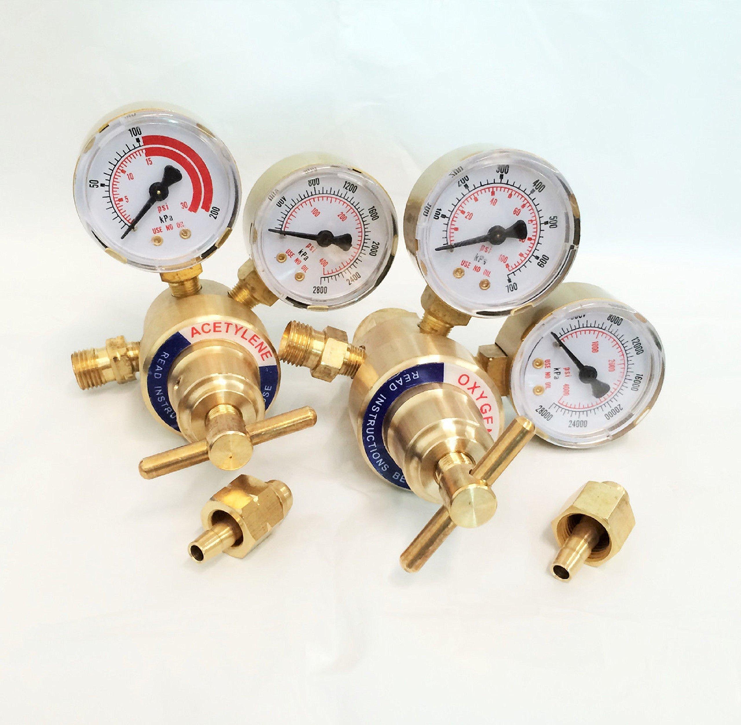 Get Quotations · WennoW Solid Brass Welding Fit Victor Gas Torch Cutting  Oxygen   Acetylene Regulators 07342cef7