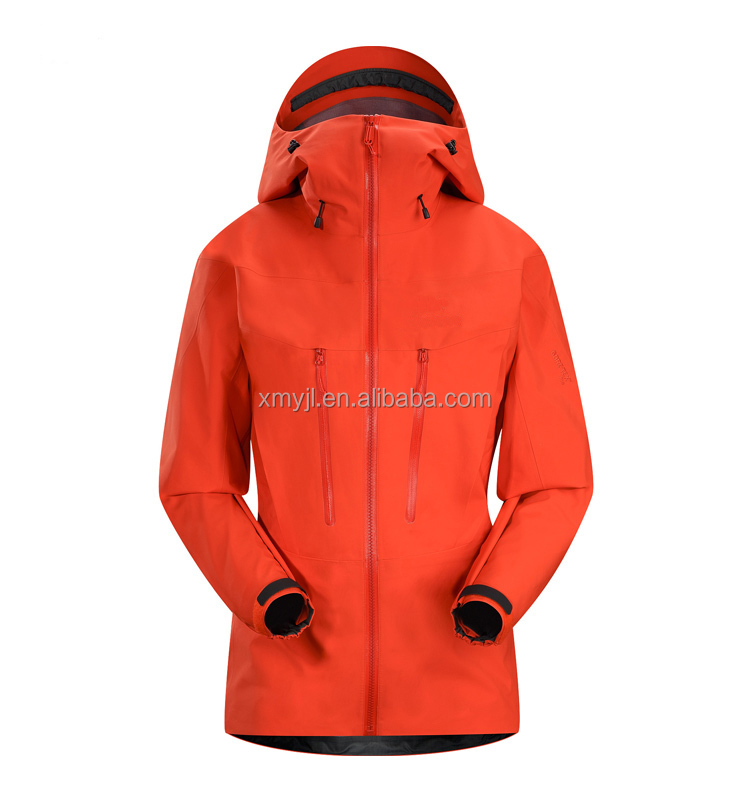 Womens Orange Taped Seams Soft Shell Waterproof Jacket With Core ...