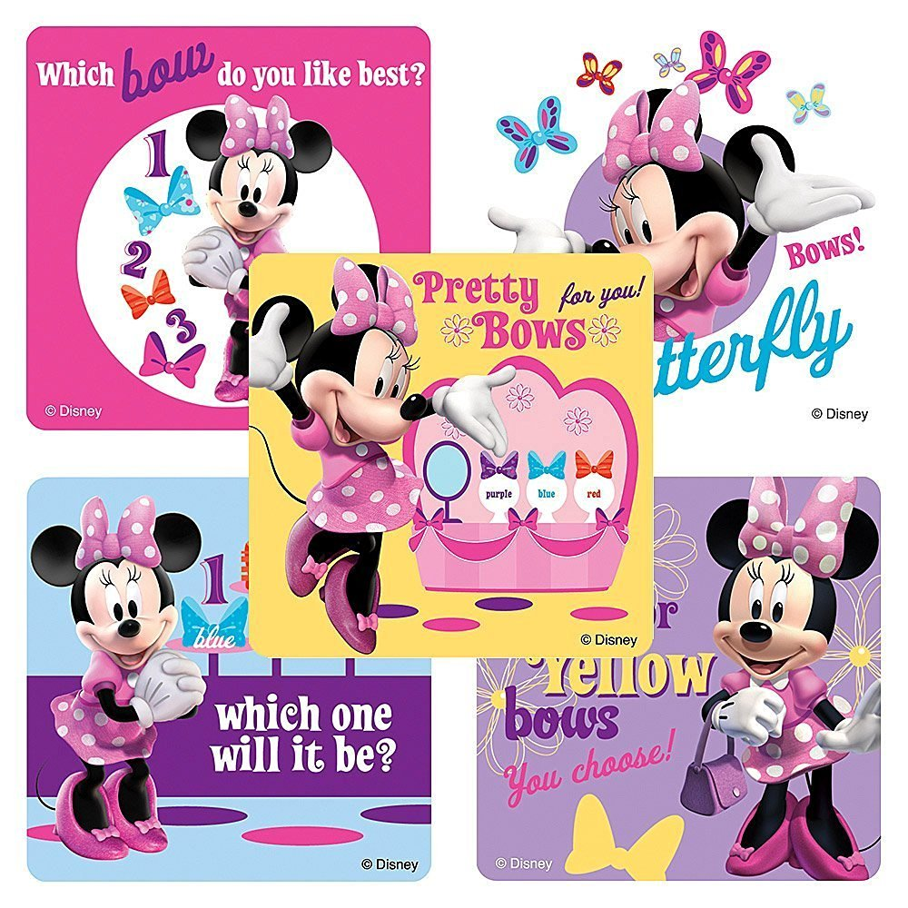 Disney Minnie Mouse Bow-tique Stickers - Birthday Party Favors - 150 per Pack