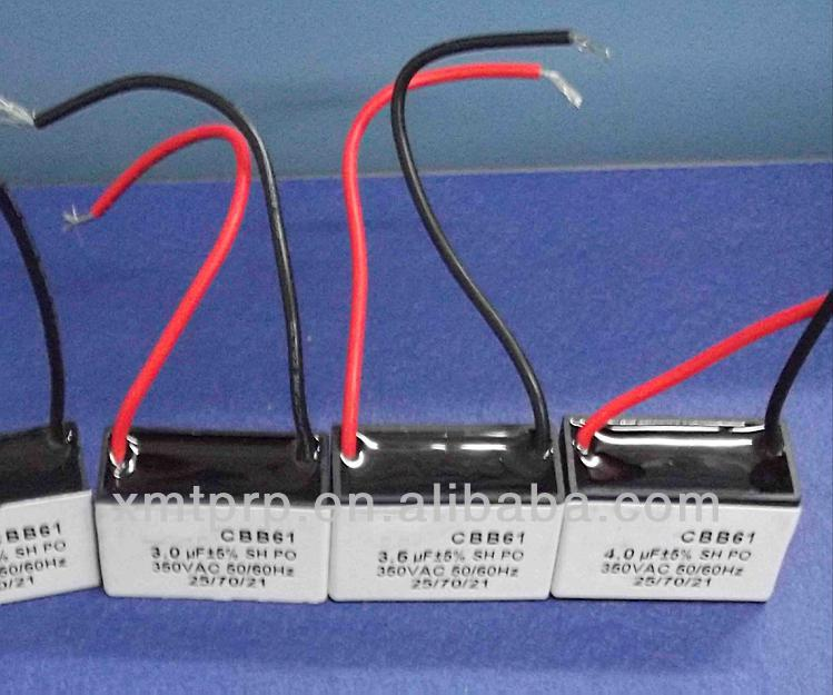 Cbb61 Capacitor 2 5uf 450v Celling Fan Capacitor