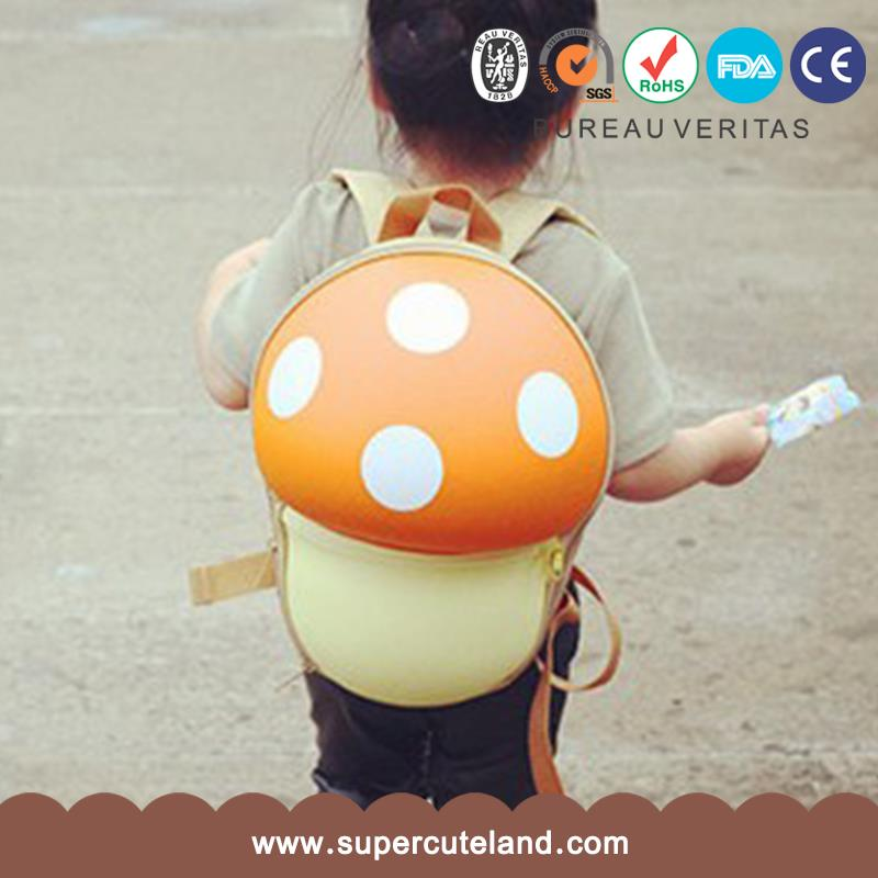 2016 customzied new design EVA Mushroom orange school bag for child