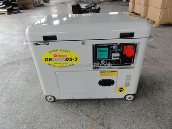 8 0kva Silent Model Home Use Air Cooled Diesel Generator Ge9000ds 3 Three Phase Wihte Color Canopy With Digital Panel View White Color Diesel