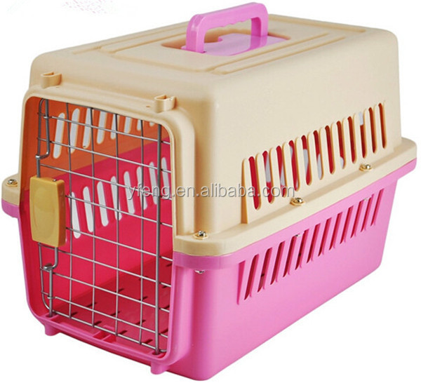 Pet Cat Puppy Carrier Travel Cage Crate Portable Small Dog Kennel Blue 19 Inch