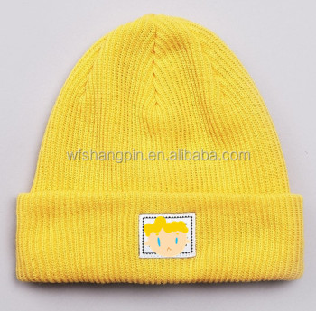 Winter Knit Custom Yellow Minion Beanie Hat 5ca796faa02