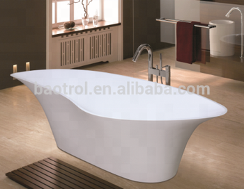Easy To Maintain Half Size Mini Shallow Solid Surface Bathtub Buy