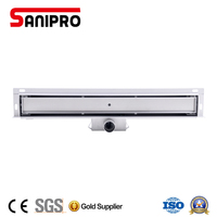 Sanipro new style against the wall linear shower drain