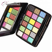 No Brand 18 Colors Private Label Glitter Eyeshadow Highlight OEM OrganicEyeshadows Makeup Kit