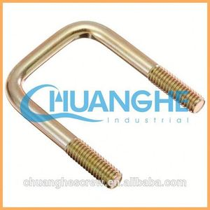 China Supplier High Quality floor door bolts u bolts(round and square type) /Link Fitting / Line Hardware