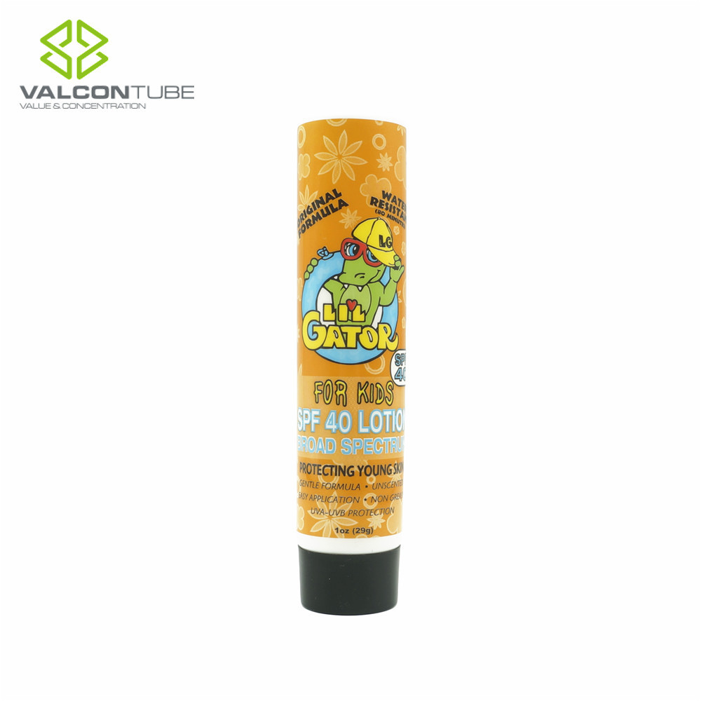 cartoon cosmetic packaging plastic tube, cartoon cosmetic packaging