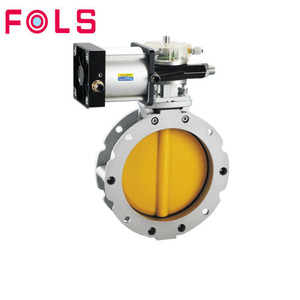 double acting flange pneumatic actuator ventilated powder butterfly valve