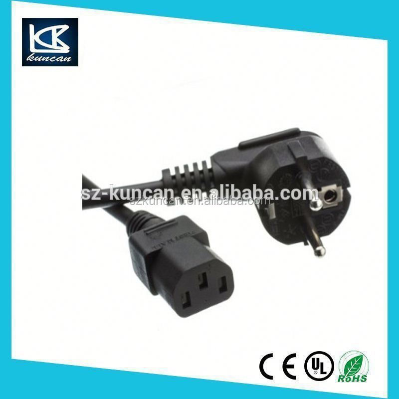 standard IEC13/C5 to 3Pin/2Pin 220v retractable power cord cable shenzhen cable manufacturer