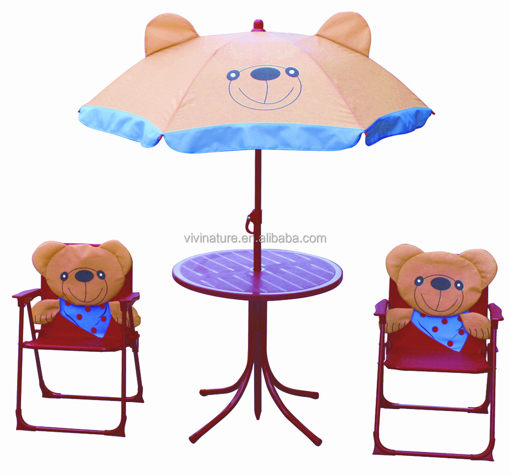 Tables and chairs cartoon - Outdoor Kid Beach Cartoon Table And Chairs