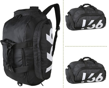 d10ad76b49e4 2017 Men Custom 3-Way Foldable Duffle Gymnastic Sports Backpack Bags With  Shoes Compartment