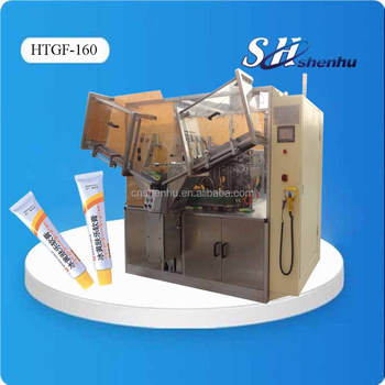 HTGF-160 High Speed Ointment Cream Tube Filling Machine Aluminum Tube Filling and Sealing