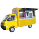 gasoline 51hp mobile chinese food truck for sales