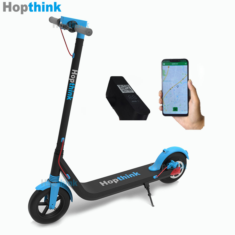 Hopthink scooter elettrico condivisione smart lock anti-theft 2g/4g impermeabile IP66 8.5 pollice GPS condivisione calcio di scooter elettrico
