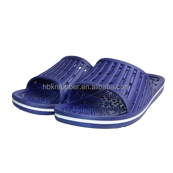 China Footwear Designs Anti-slip Bath Striped Rubber Slippers Mens ...