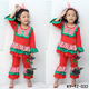 Red and White Stripe Classical Design outfits Customers Matching Colors Acceptable Girls Ruffle Outfits