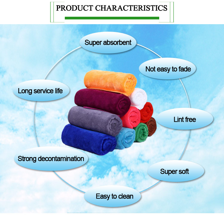 Microfibre hair towel for hair salon, high water absorption purple hair turban towel