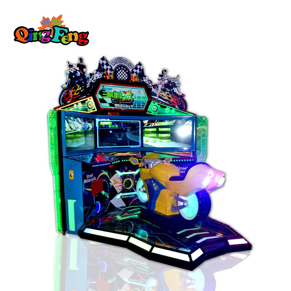 big Three screen Street Motorcycle simulator racing game machine