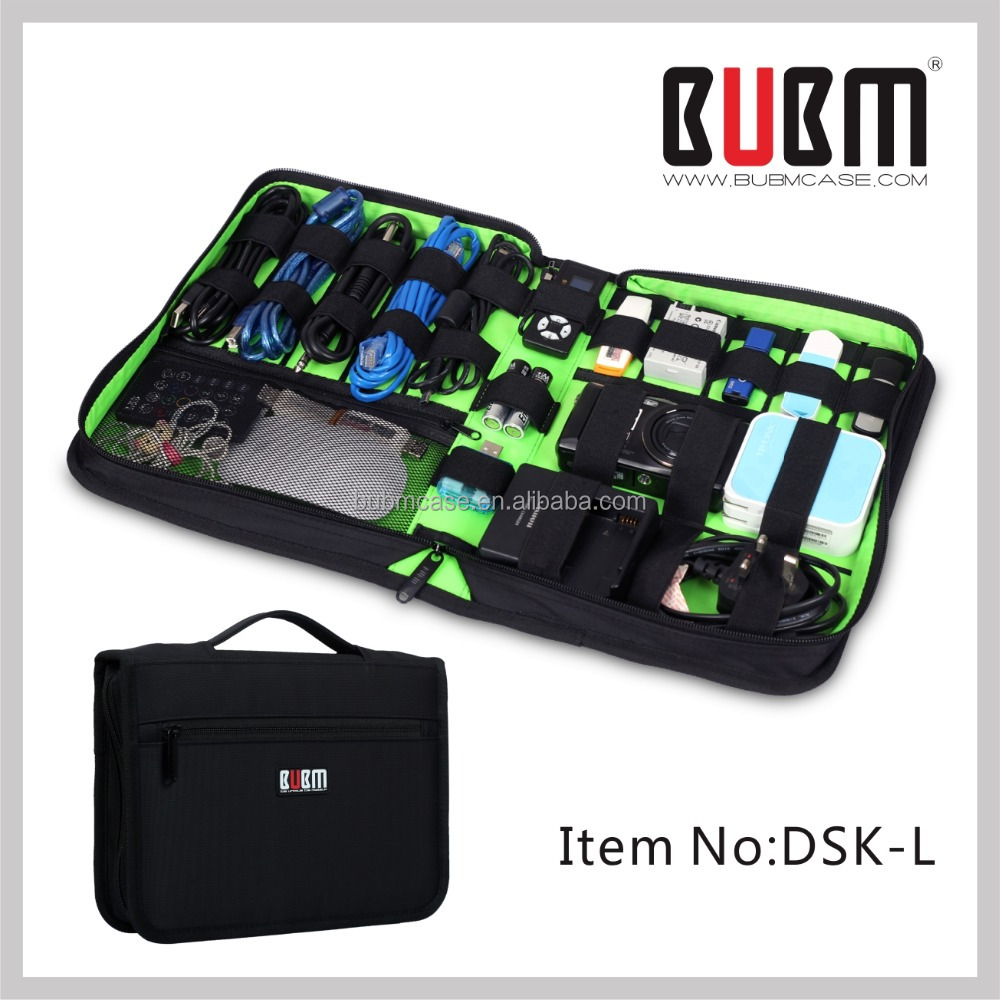 BUBM Classic Black Daily Necessities bag USB Flash Drive/Hard Disk Electrician Tool/TRAVEL Organizer Storage Bag FACTORY PRICE