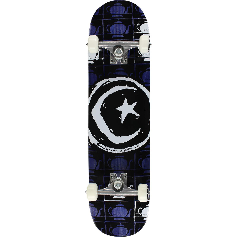 "Foundation Skateboards Star & Moon Teapot Repeater Complete Skateboard - 7.75"" x 32"""