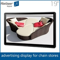 Flintstone 19'' wall mount digital board for advertisement, usb media player, advertising screen tv