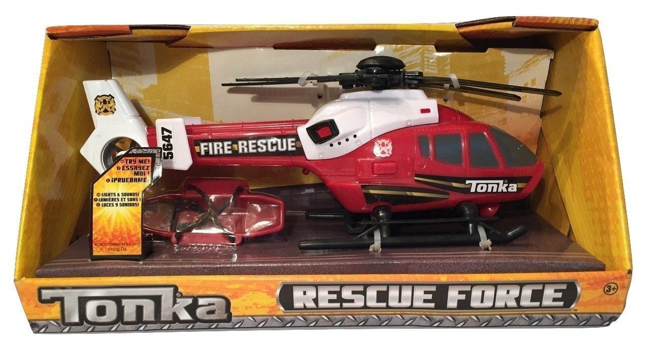 Tonka Rescue Force Fire Department Helicopter - Lights and Sound by Tonka