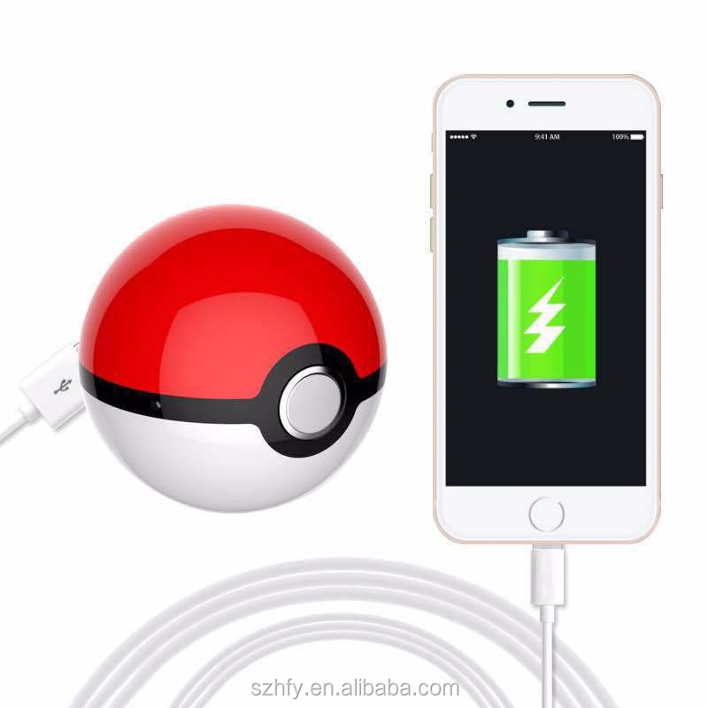 High Quality 2016 Best Gift Model 12000mAh Pokemon go ball power bank